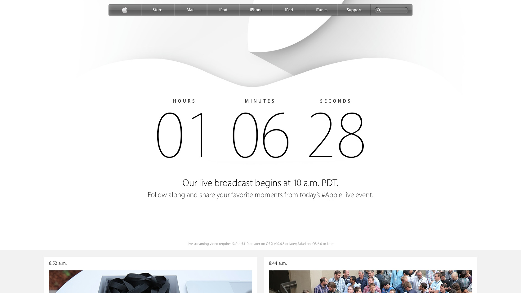 Apple Special Event 20140909 on Appledotcom