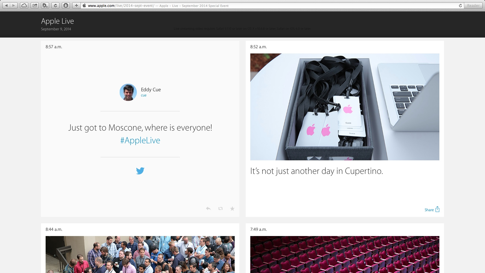 Apple Special Event Live Update 20140909 Appledotcom