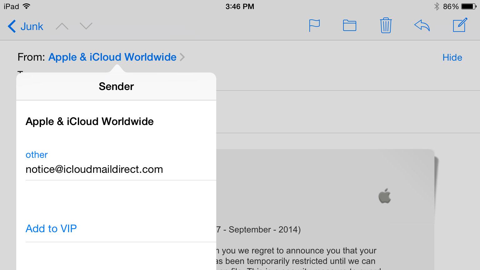 Phising-Email-Apple-iCloud-from-noticeaticloudmaildirectdotcom