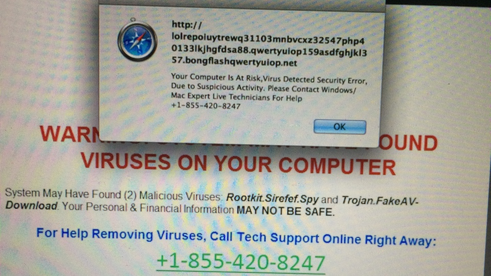 Scam Alert 1-855-420-8247