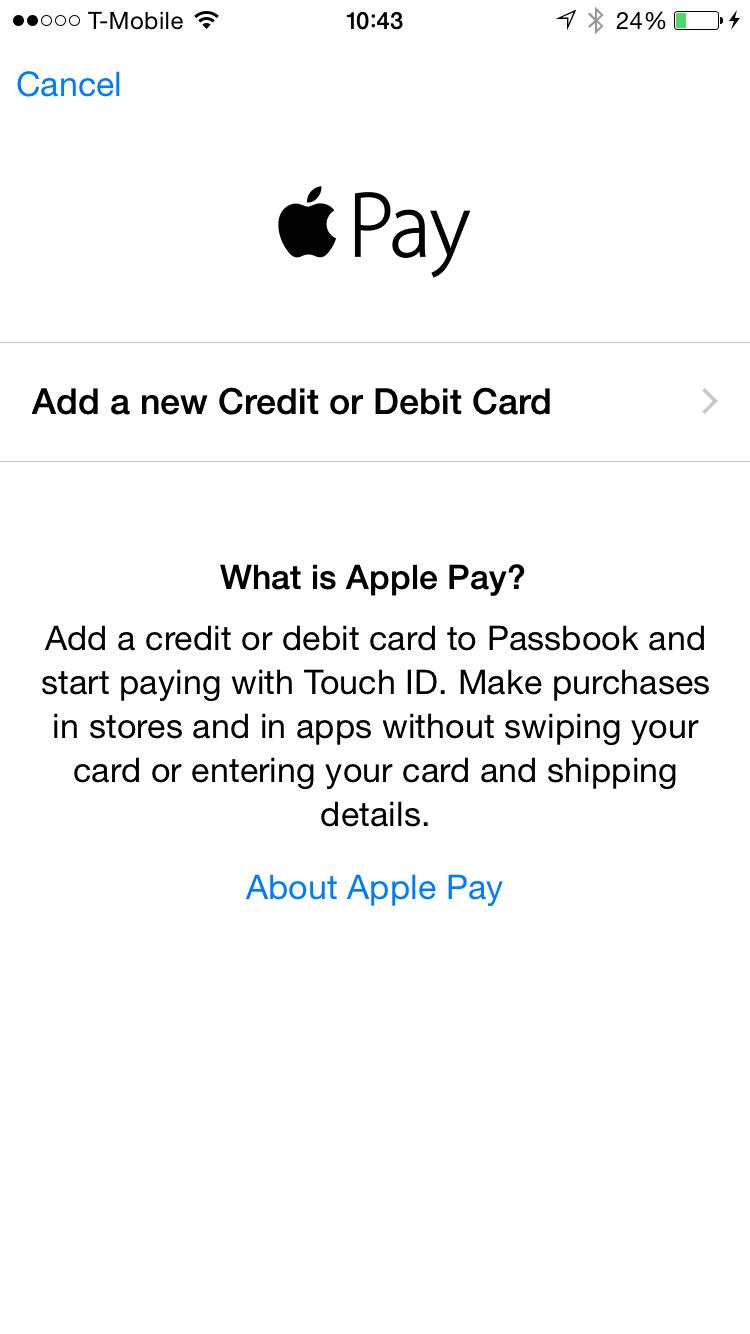 Apple Pay Setup 2