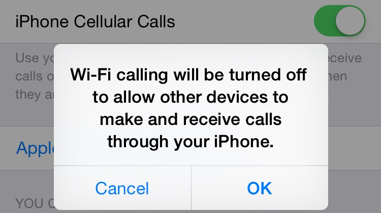 iPhone Cellular Calls or Wi-Fi Calling