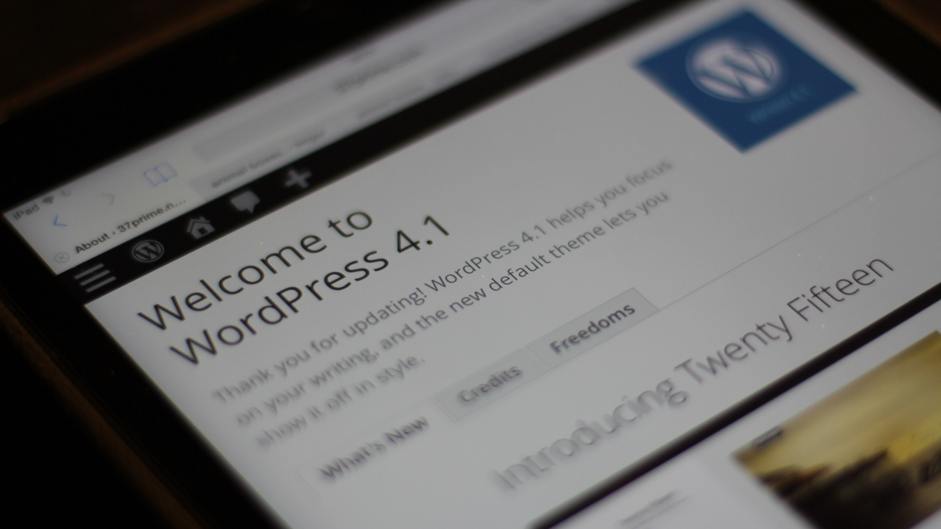 Welcome to WordPRess 4.1