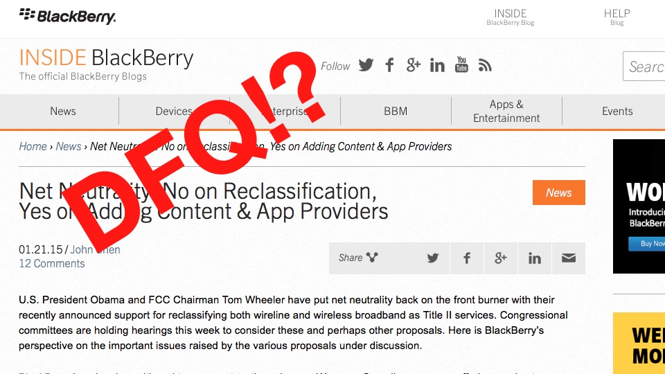 Desperate and Delusional BlackBerry CEO