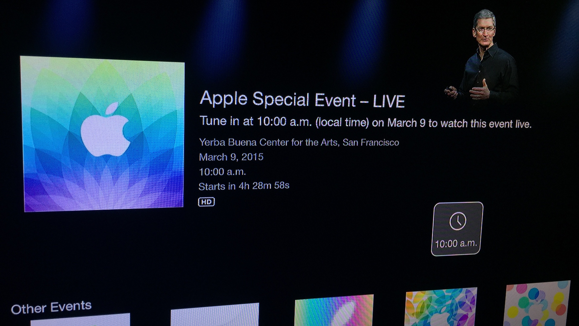 Apple Special Event Live March 09 2015 Apple TV