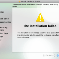 Final Cut Studio: Failed Installation