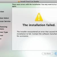 Final Cut Studio: Failed Installation