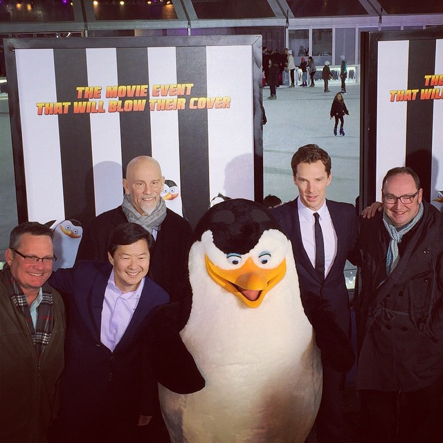 dreamworksanimation:  The #PenguinsMovie team is all here at the premiere! When are you going to see Penguins Of Madagascar?