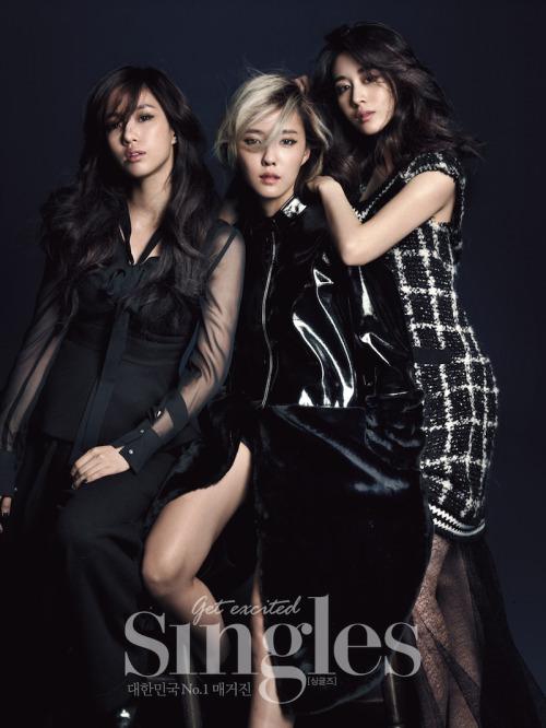Eunjung, Hyomin and Jiyeon for Singles Korea 싱글즈