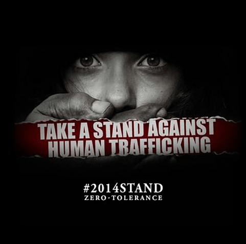 i-aint-even-sorry:  Human Trafficking Awareness Month—Educate yourself. Build awareness. End Slavery—Take a Stand: http://ow.ly/svaeB #2014STAND    Join us for our talk about 2014 goals in the anti-trafficking movement tomorrow at 12pm PST/3pm EST on Twitter! Join with the hashtag #DSBchat.