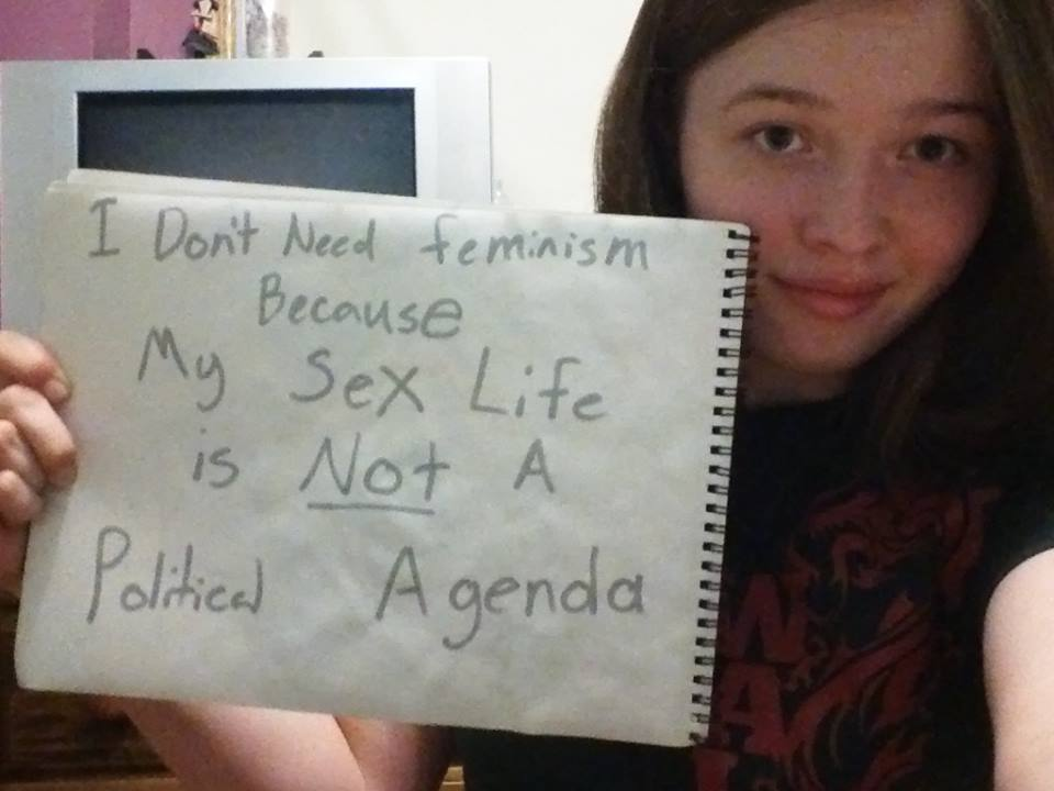 Submit your pic! All photos will remain anonymous.http://womenagainstfeminism.tumblr.com/submit orwomenagainstfeminism@gmail.com<br /><br /><br />visit us on Facebookwww.facebook.com/WomenAgainstFeminism