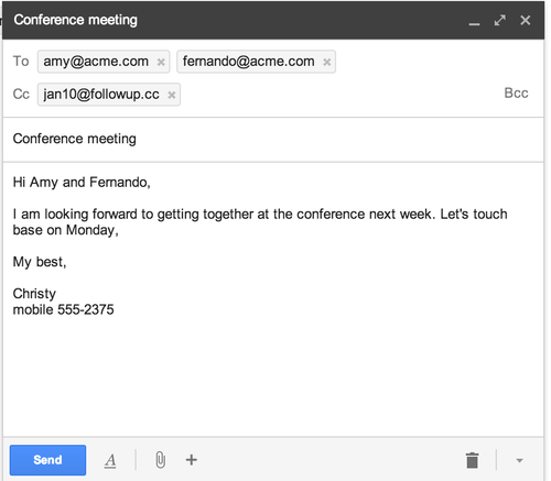 Create Reminder Emails for an Event - FollowUp.cc Blog