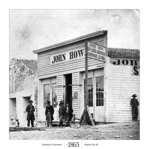 """Virginia City 1865<br /><br /><br /><br /><br /><br /><br /><br /> A major hub for Montana gold miners looking for their next """"Eureka"""" moment."""