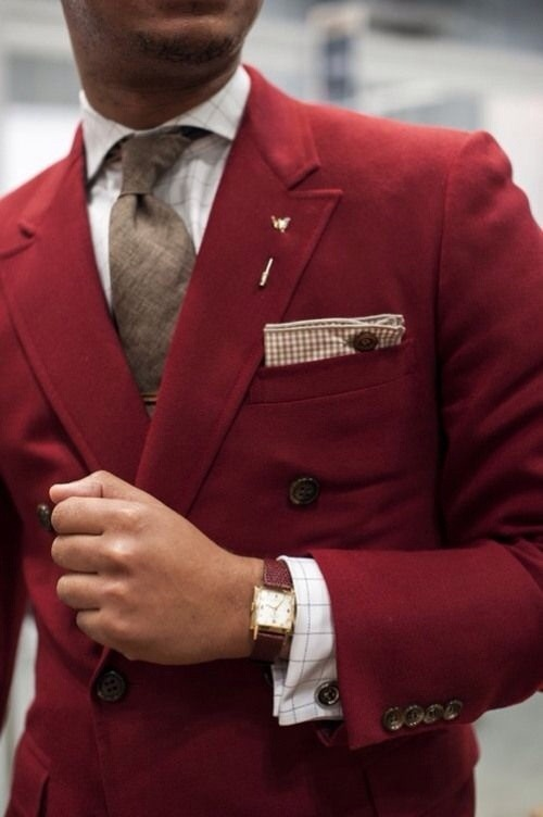 File under: Double breasted, Blazers, Color pop, Ties, Pocket squares</p> <p>  FACEBOOK  