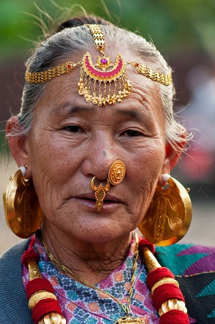 munan15: A Limbu woman from east Nepal in her traditional ornaments