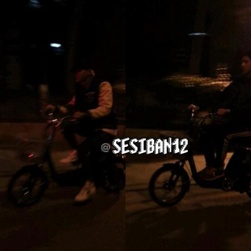 ☆彡sesiban12<br /><br /><br /><br /><br /><br /><br /><br /><br /><br /><br /><br /><br /> Tao and Sehun riding electric bicycles. They apparently went to watch a movie together too!
