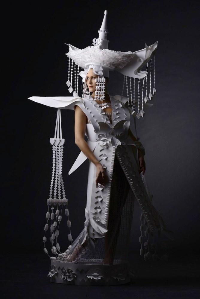 Ornate Mongolian Wedding Costumes Made Out of Paper by Asya Kozina (5/6)