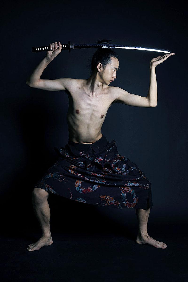 Shohei Yamashita in Yohji Yamamoto AW14 by Shiraz Randeria for Wallpaper* (Thai Edition), October 2014.