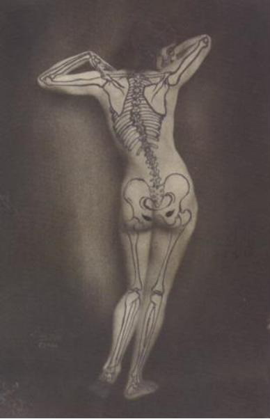 grandma-did:  retrona:  billyjane:  Nu au squelette by Ergy Landau,1930  Finally, a tattoo that makes sense to me.