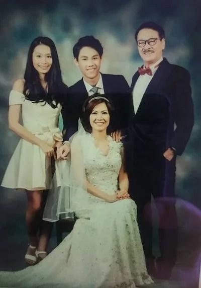 Ng Man-tat and his family.