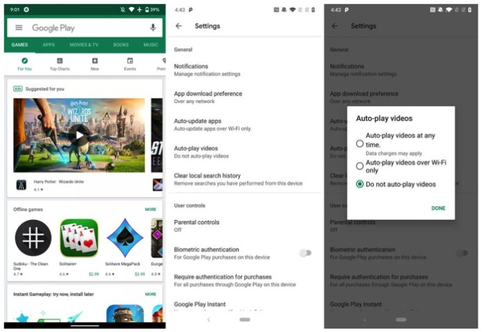 Play Store Autoplay