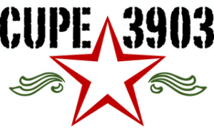 The CUPE 3903 red star logo