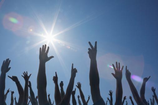 Hands up sky