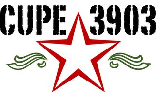 The CUPE 3903 star logo.