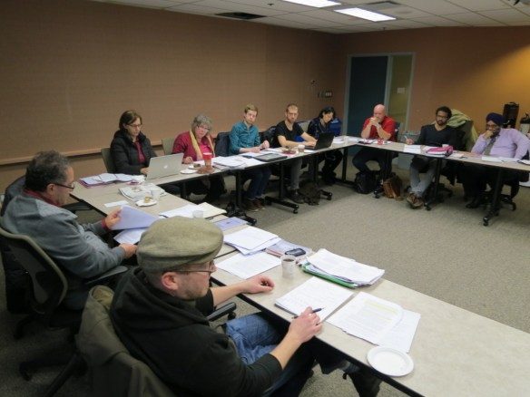 BT members and staff at the bargaining table