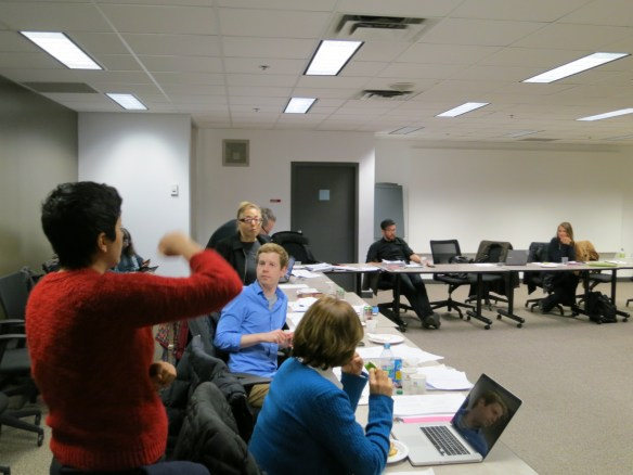 More discussion among Bargaining Team members