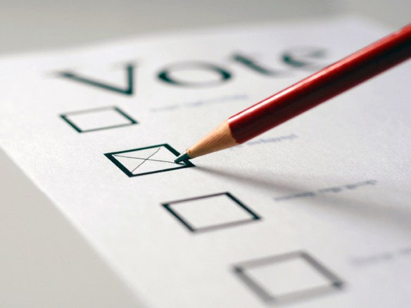 Voting with a pencil