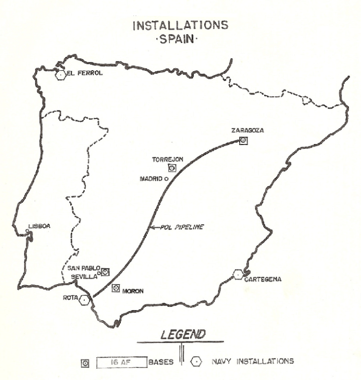 archived, installations map spain1958 750px