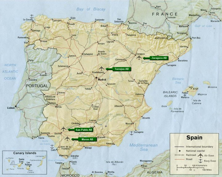archived map spain bases