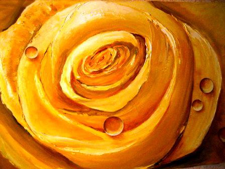 Желтая роза. Работа Анатолия Резчикова