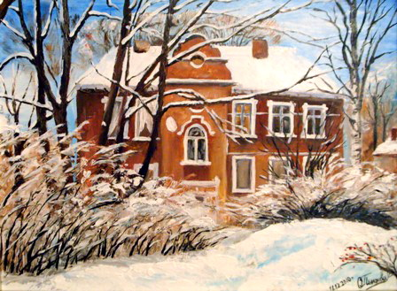 Зима. Работа Ольги Пылаевой