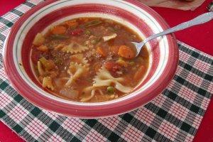 Italian Bowtie Pasta Soup