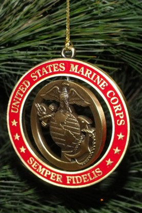 USMC Christmas Tree Ornaments