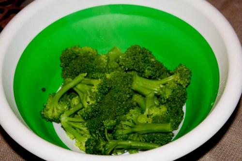Fresh cooked broccoli