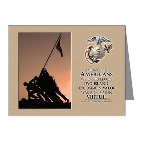 Iwo Jima Marine Corps Memorial Card