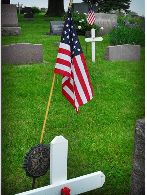 Memorial Day Traditions in the cemetery