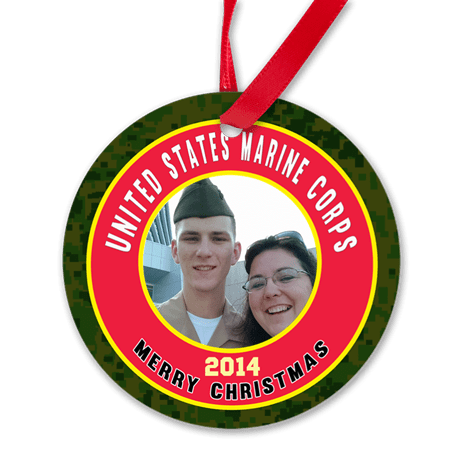 Personalized Marine Corps Christmas Ornament