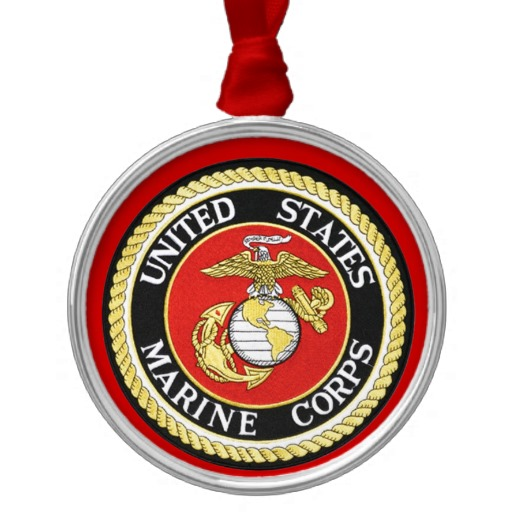 Marine Seal Ornament with Red Ribbon