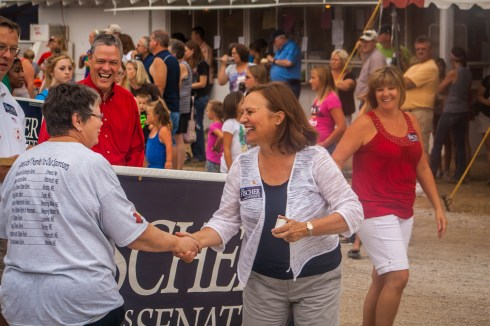 Deb Fischer in a parade
