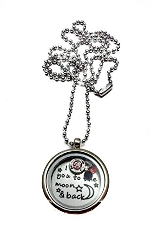 Marine Corps I Love You To The Moon And Back Living Memory Locket Necklace marines
