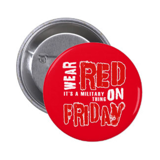 Wear RED on Friday Button