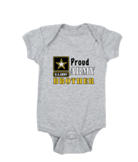 Proud Army Brother baby romper shirt