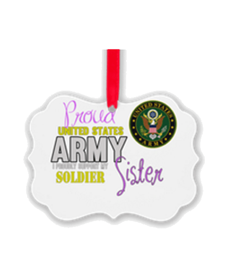 Proud Army Sister Christmas ornament