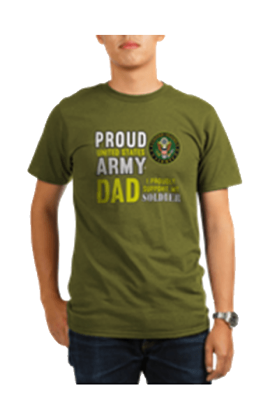 Proud Army Dad shirt and apparel