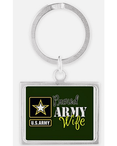 Proud Army wife key chain
