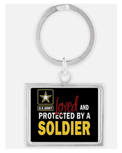 Loved and protected by a soldier keychain